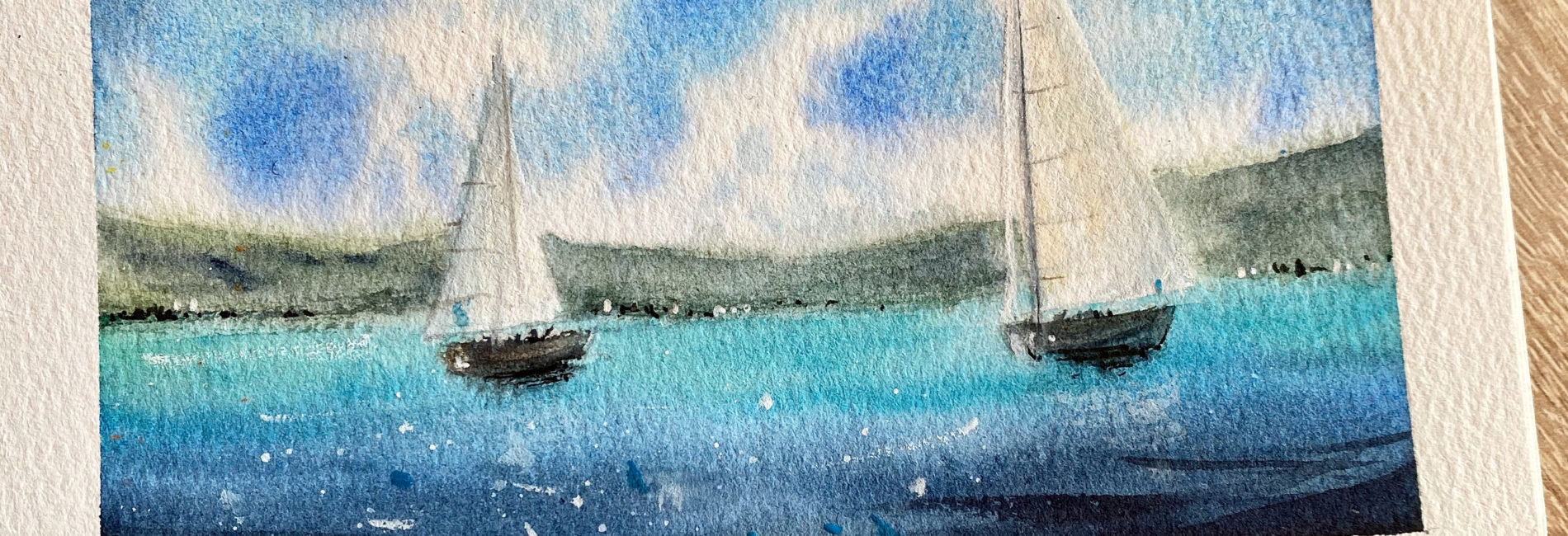 watercolor sails