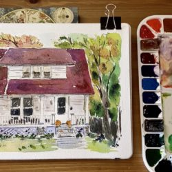 DRAWING FACADES IN INK AND WATERCOLORS