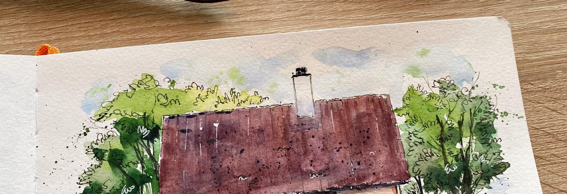 Jæren, Norway – watercolor tutorial